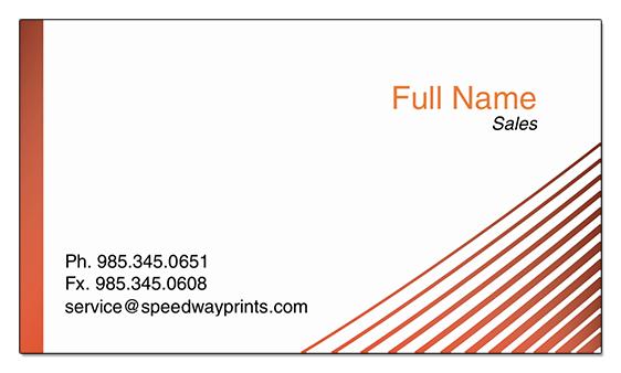 Speedway printing hammond la premium business card id b73 00000008 reheart Images