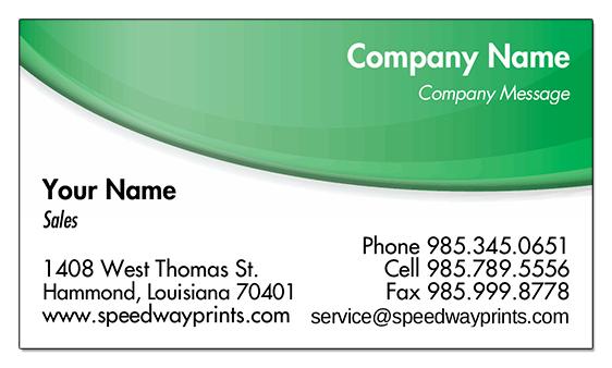 Speedway printing hammond la green green business card id b73 895908 reheart Images