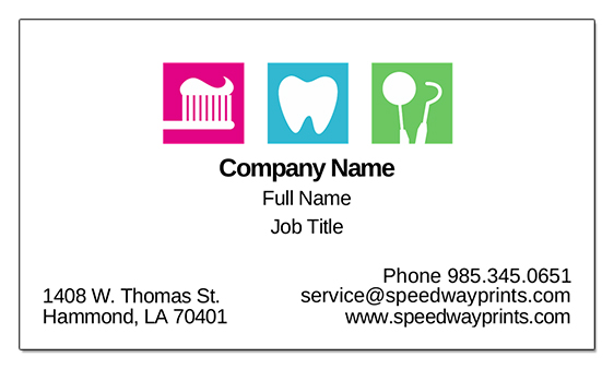 Speedway printing hammond la light dentistry business card id b73 1029241 reheart Images