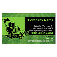Green Lawnmower Business Card ID # B73-1508752