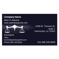 Scales of Justice Business Card ID # B73-867831