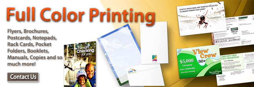 Full Color Printing Services - Speedway Printing | Hammond, LA